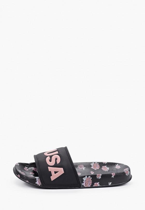 женское сабо dc shoes, черное