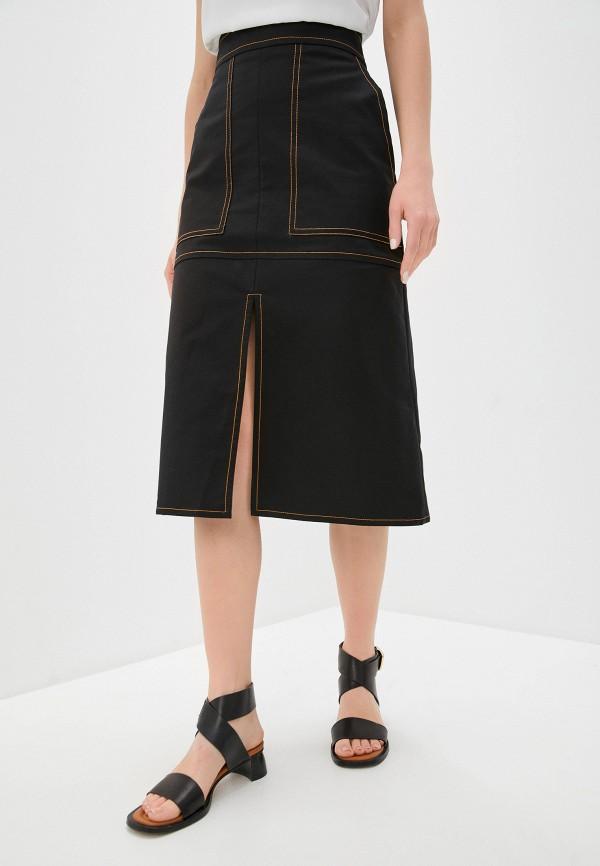 женская юбка eleventy, черная