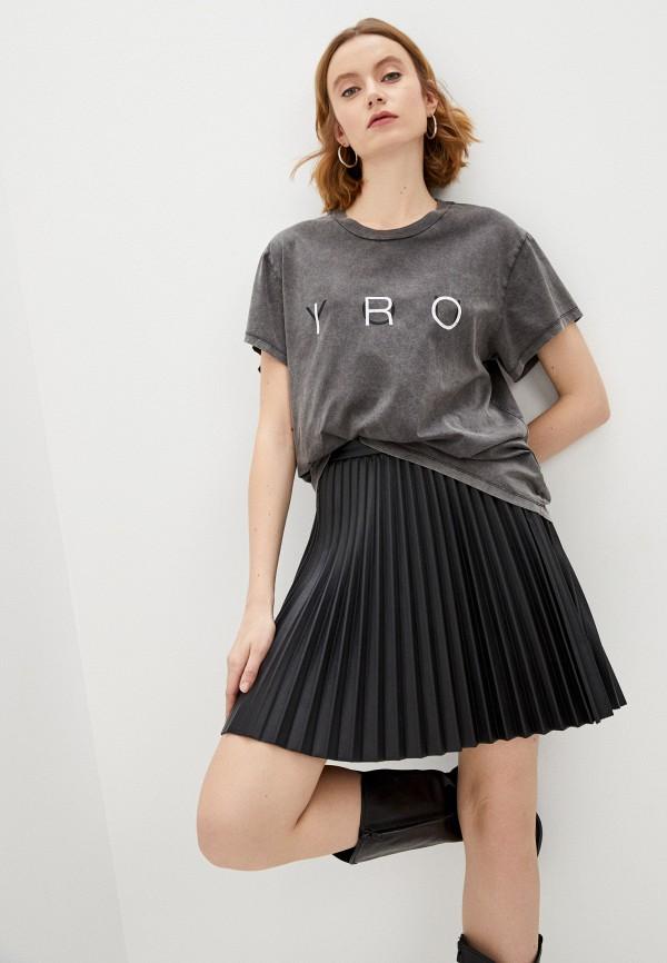 женская футболка iro, серая