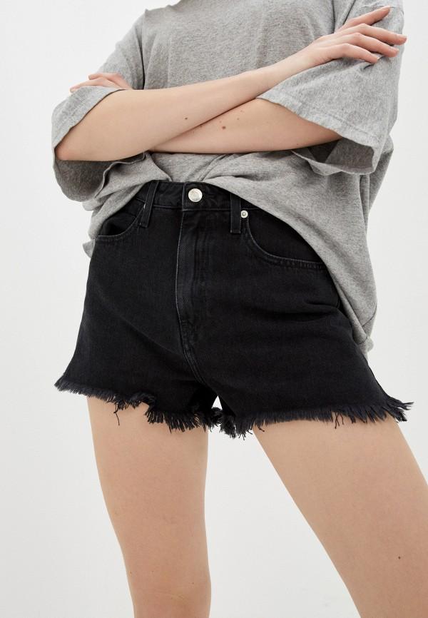 женские джинсовые шорты iro, черные