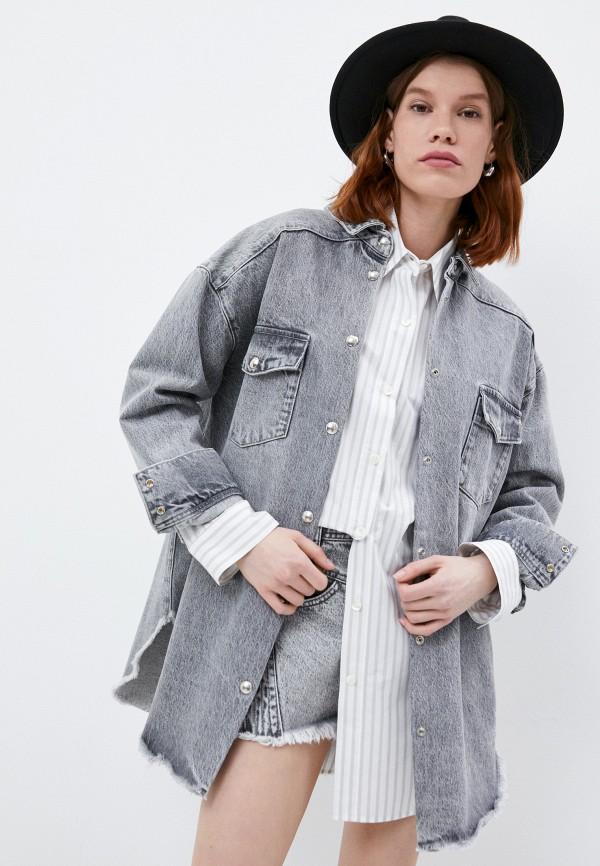 женская джинсовые рубашка iro, серая