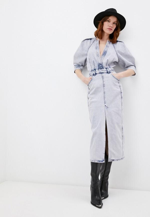 женское джинсовые платье iro, голубое