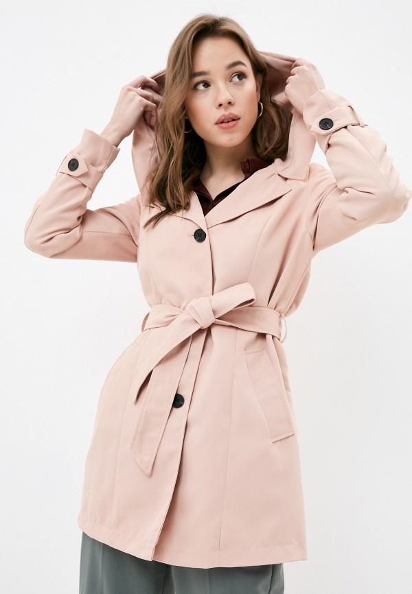 женский плащ vero moda, розовый