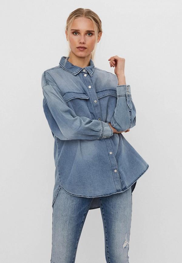 женская джинсовые рубашка vero moda, голубая