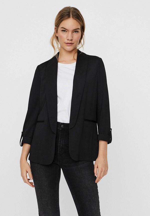 женский пиджак vero moda, черный