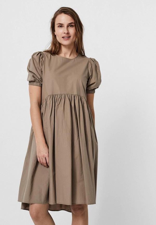 женское повседневные платье vero moda, бежевое