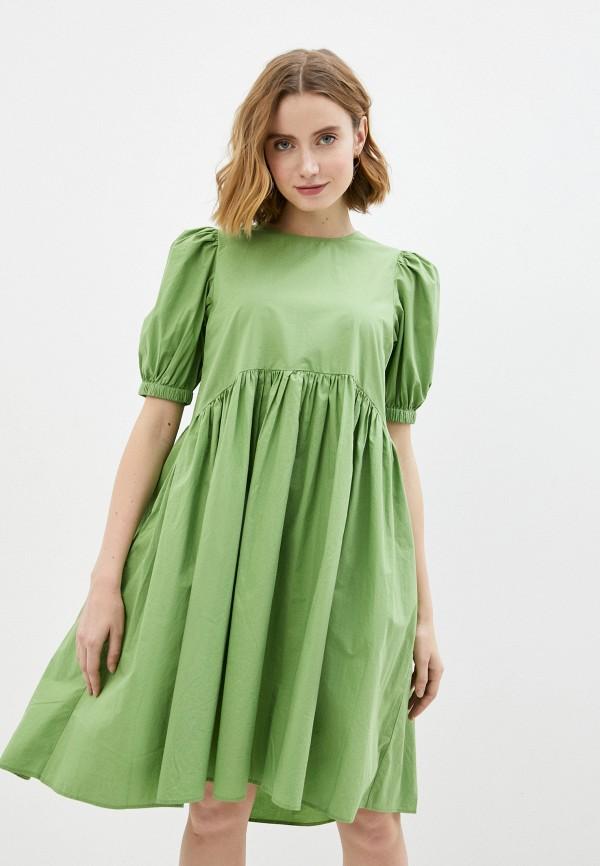 женское повседневные платье vero moda, зеленое