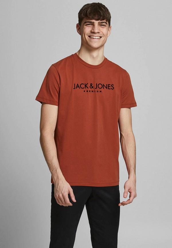 мужская футболка с коротким рукавом jack & jones, красная