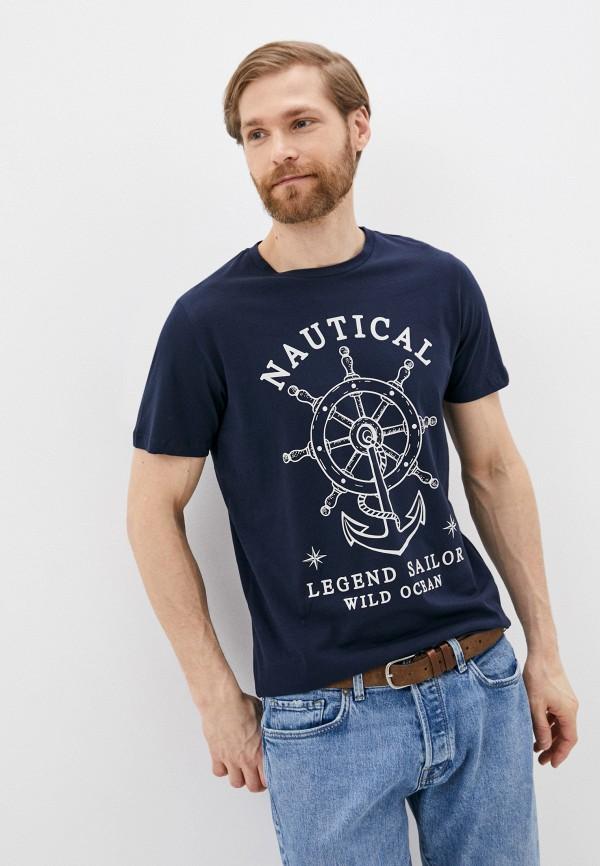 мужская футболка с коротким рукавом produkt, синяя