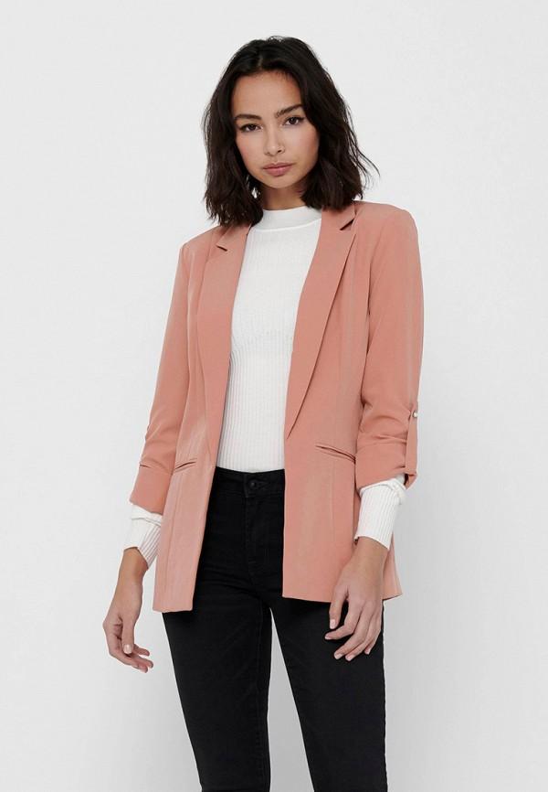 женский пиджак only, розовый