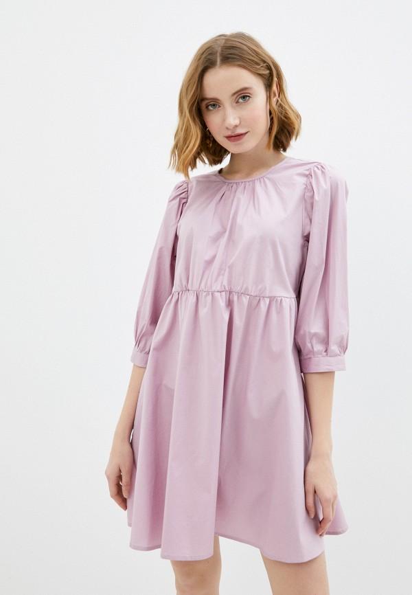 женское повседневные платье only, розовое