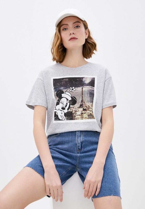 женская футболка jacqueline de yong, серая