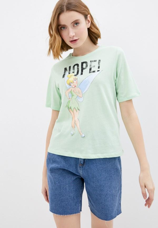 женская футболка jacqueline de yong, зеленая