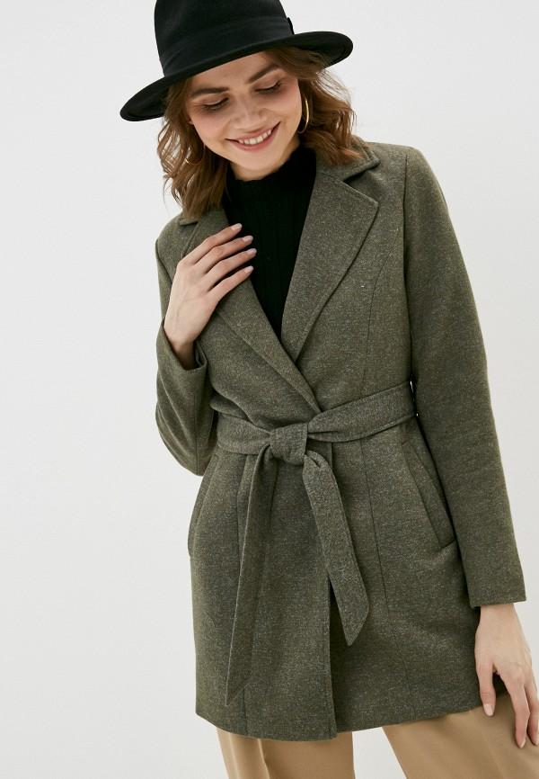 женское пальто only, хаки