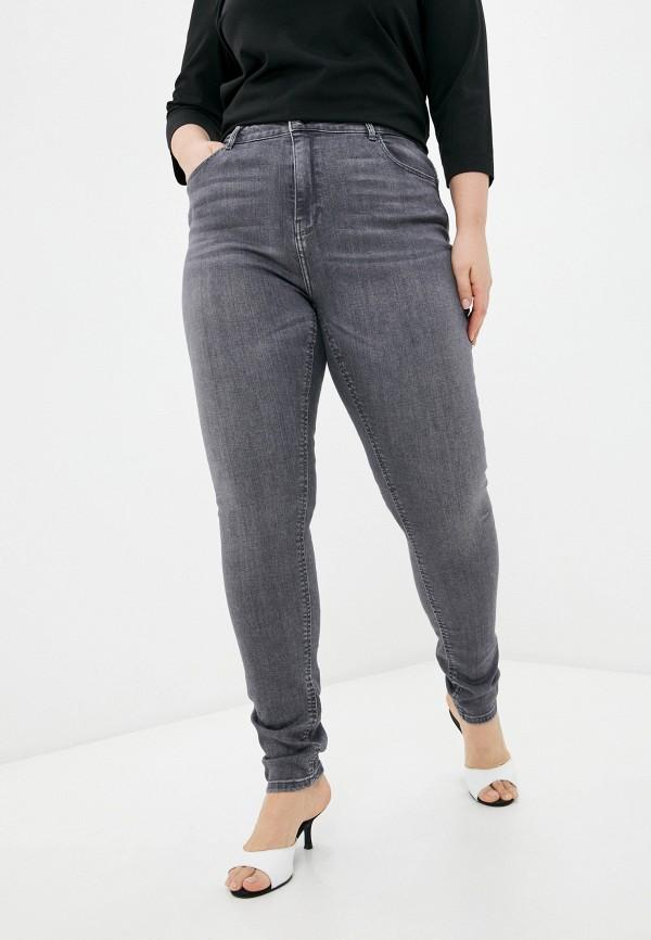 женские джинсы only carmakoma, серые