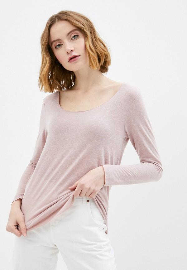 женский лонгслив jacqueline de yong, розовый
