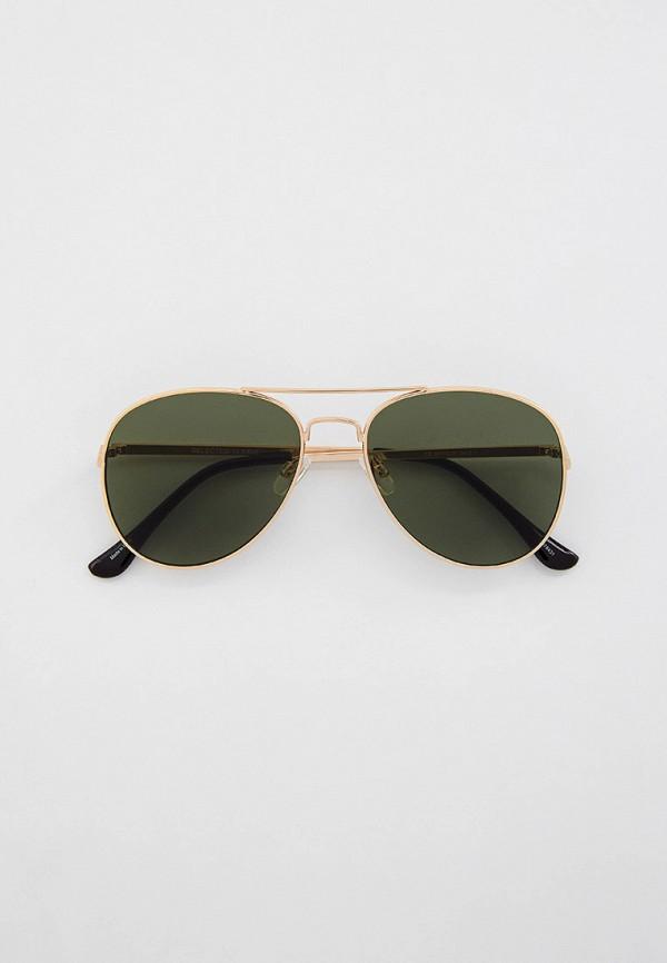 мужские солнцезащитные очки selected homme, золотые