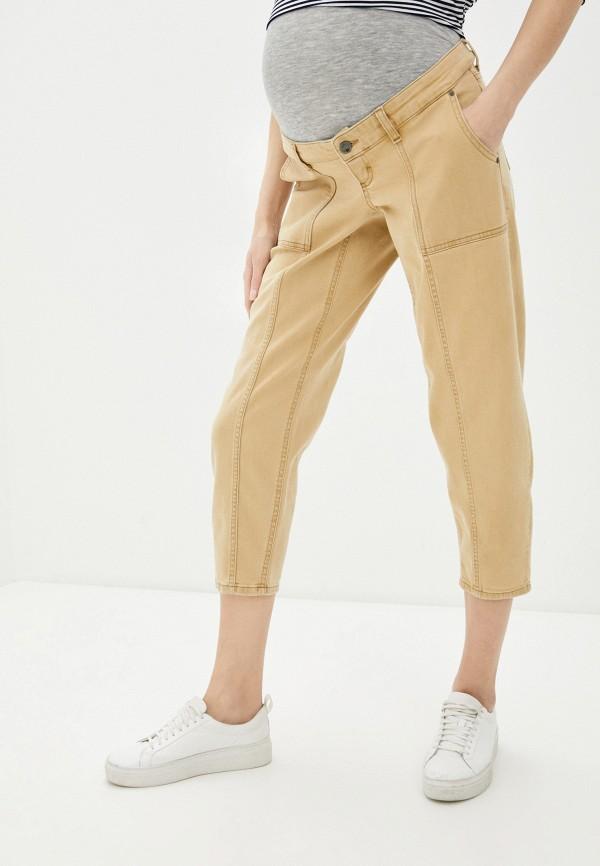 женские повседневные брюки mamalicious, бежевые