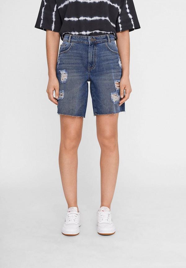 женские джинсовые шорты noisy may, синие
