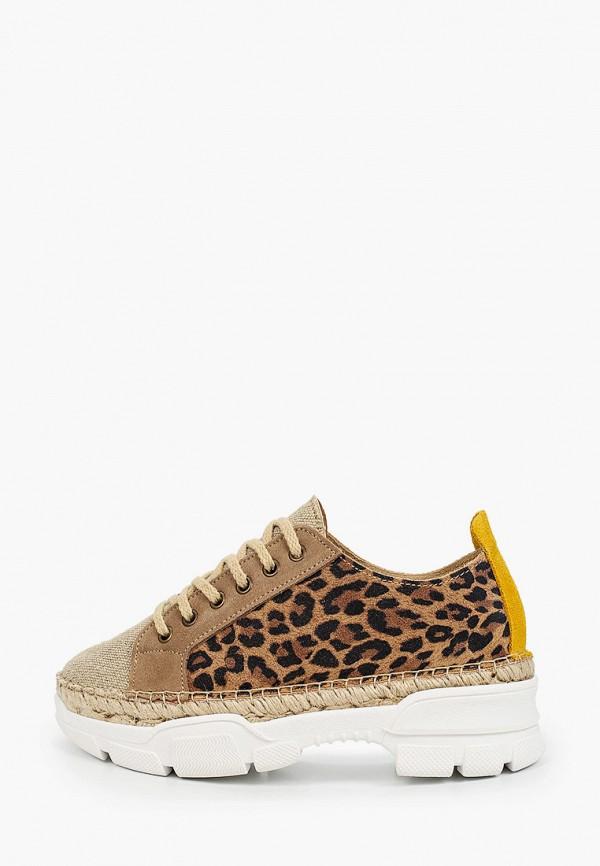 женские кроссовки el tempo, коричневые