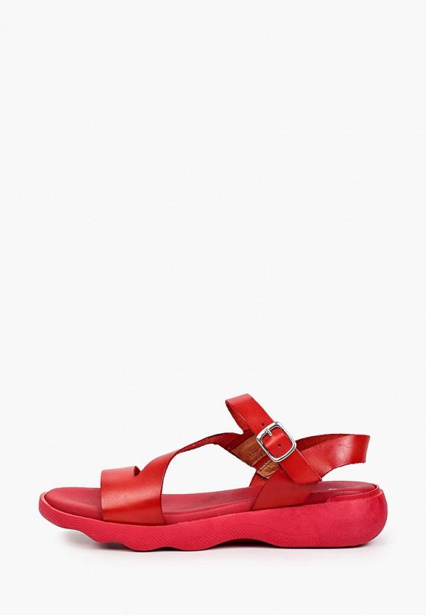 женские сандалии el tempo, красные