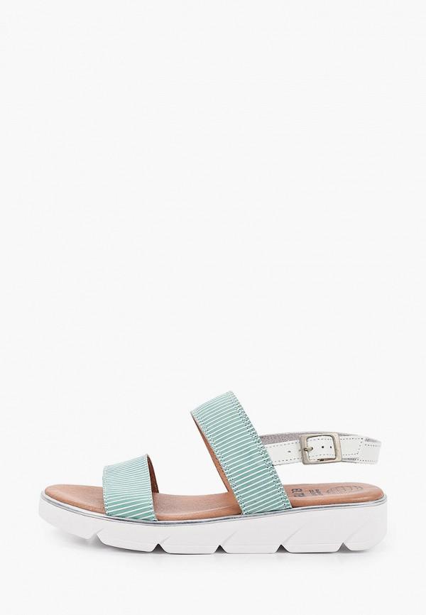 женские сандалии el tempo, голубые
