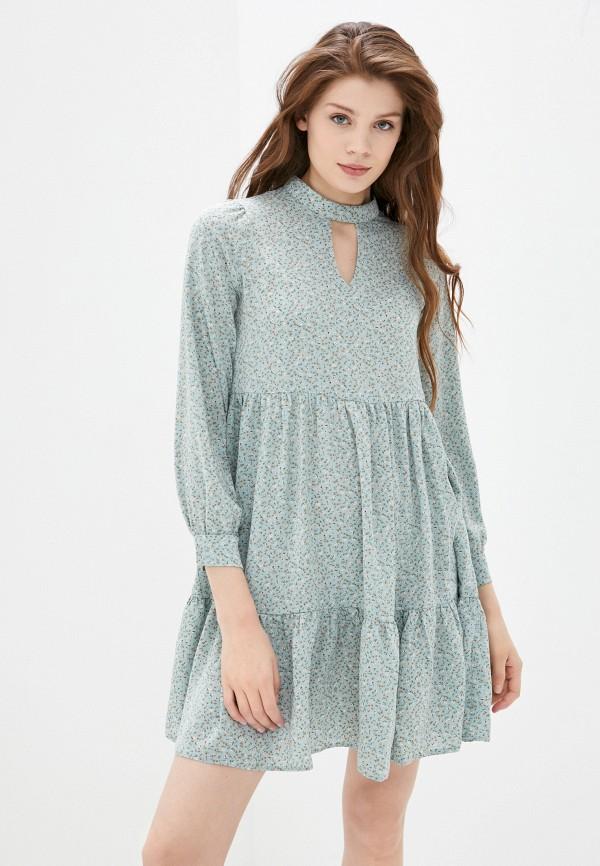 женское повседневные платье imocean, голубое