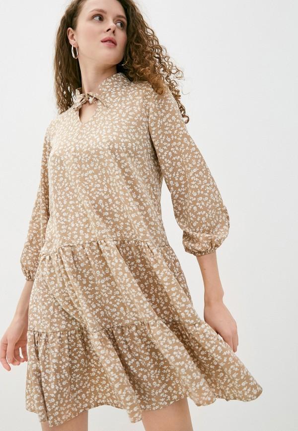 женское повседневные платье imocean, коричневое