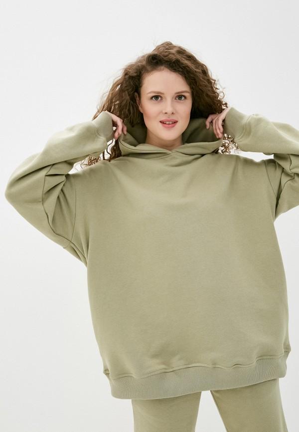женские худи imocean, зеленые