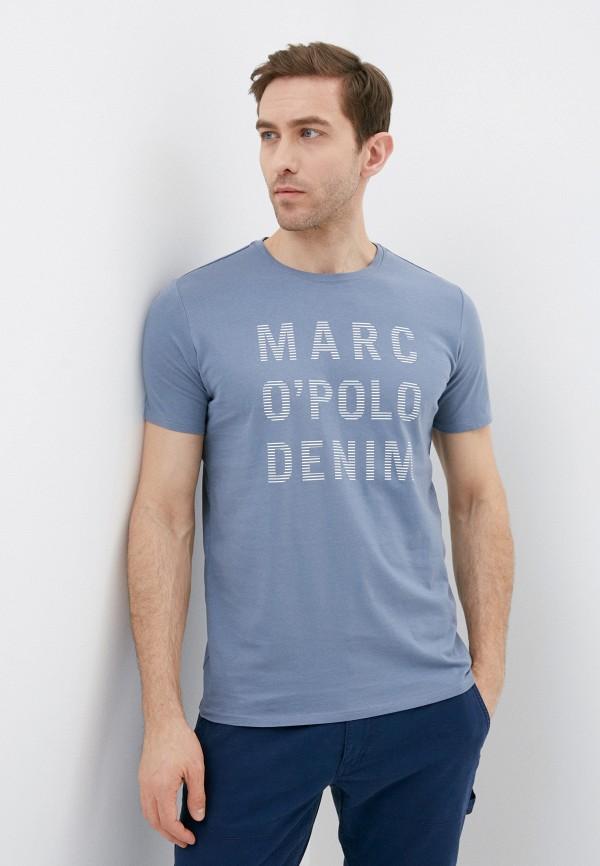 мужская футболка с коротким рукавом marc o'polo denim, синяя