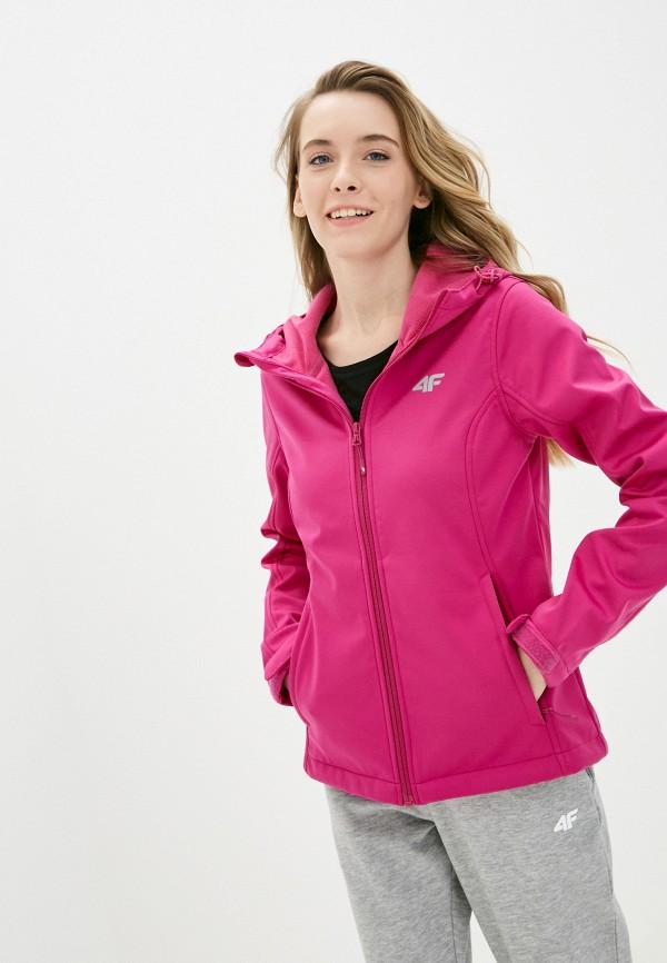 женская ветровка 4f, розовая