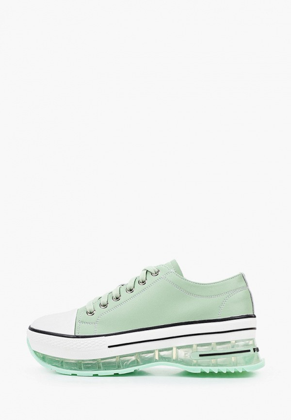 женские низкие кроссовки respect, зеленые