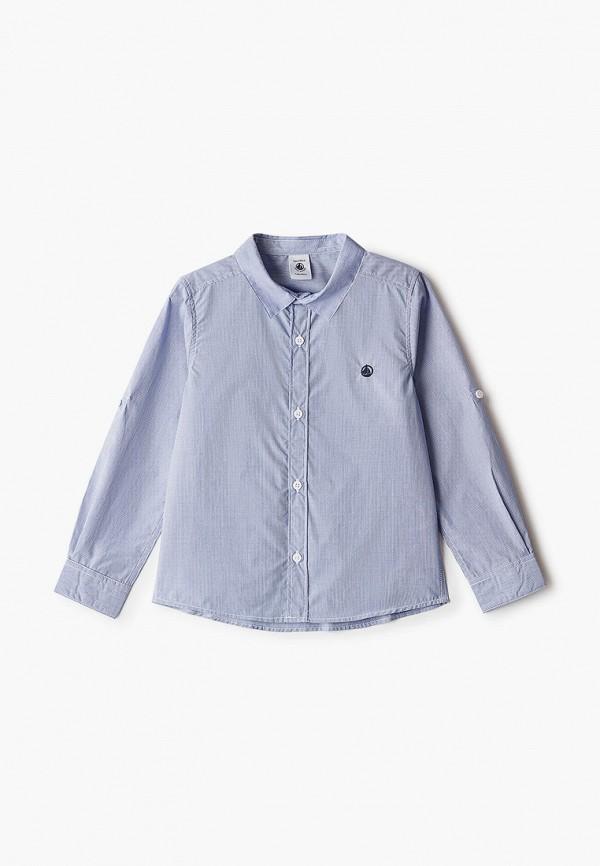рубашка petit bateau для мальчика, голубая