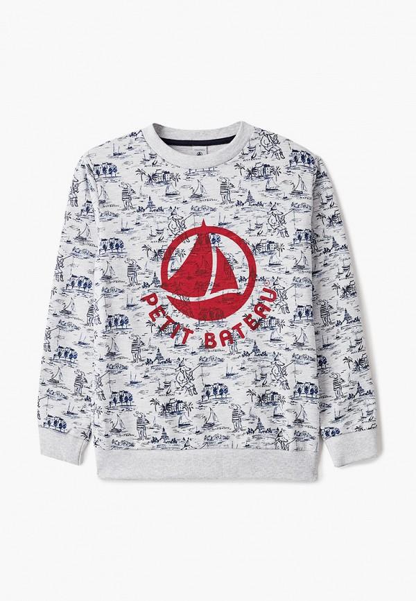 свитшот petit bateau для мальчика, серый