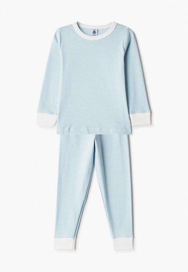 пижама petit bateau для мальчика, голубая