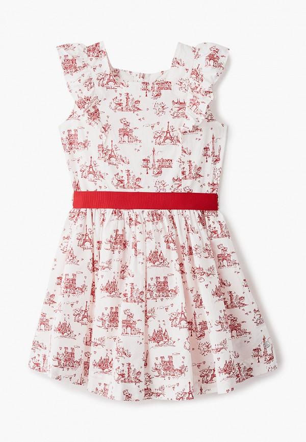 повседневные платье petit bateau для девочки, белое