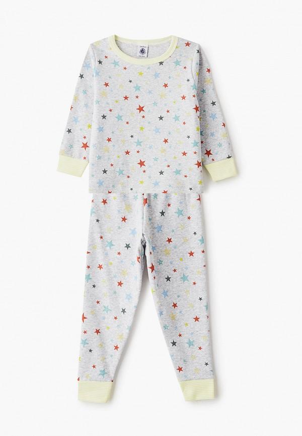 пижама petit bateau малыши, серая