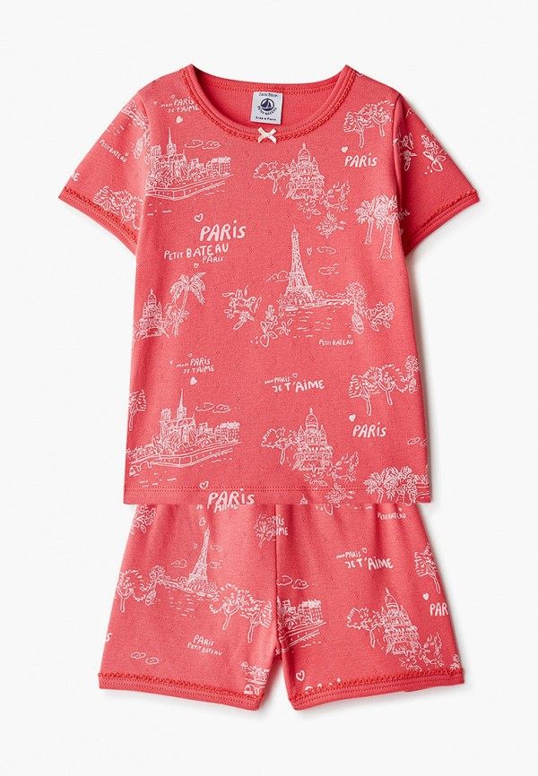 пижама petit bateau для девочки, розовая