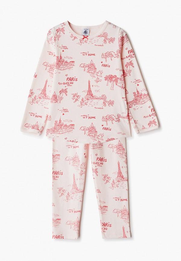 пижама petit bateau для девочки, бежевая