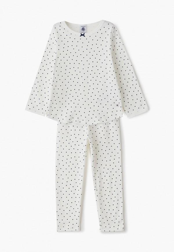 пижама petit bateau для девочки, белая