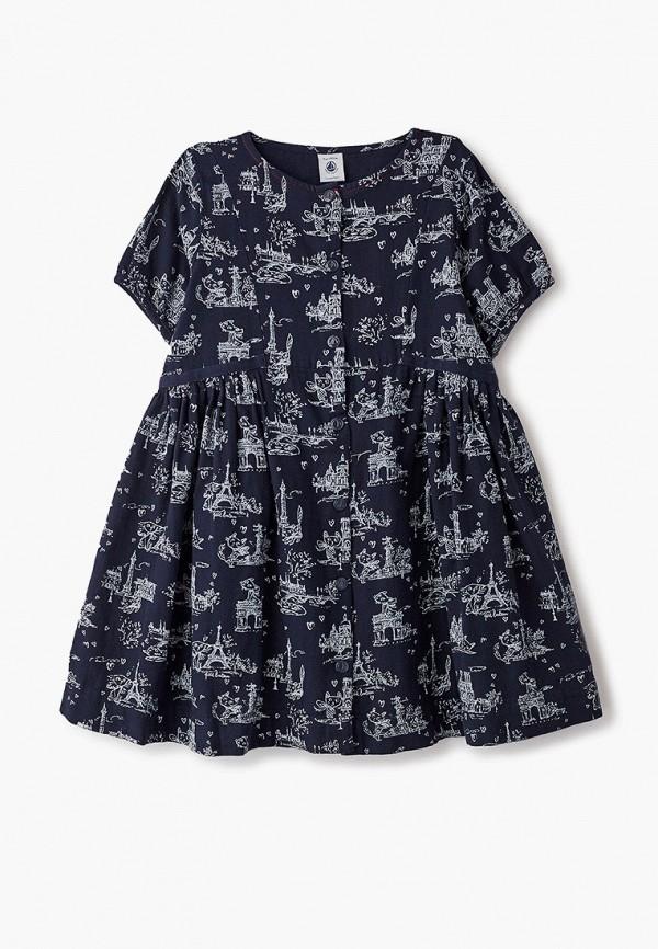 повседневные платье petit bateau для девочки, синее