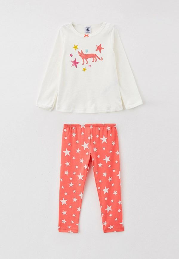 пижама petit bateau для девочки, разноцветная