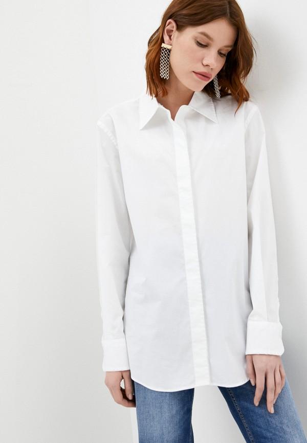 женская рубашка с длинным рукавом dondup, белая