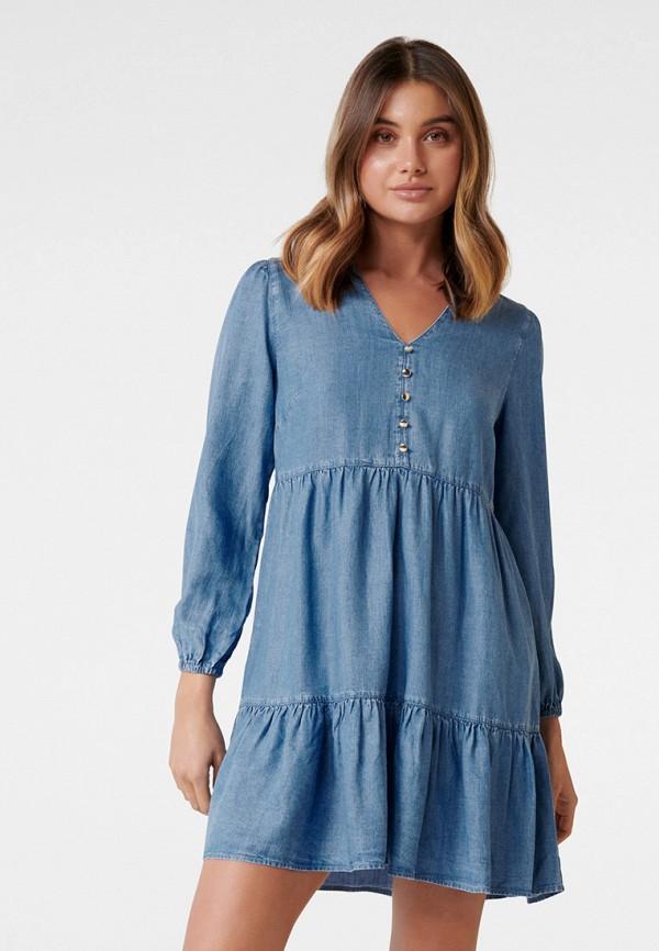 женское джинсовые платье forever new, синее