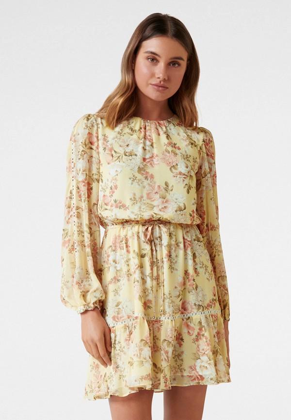 женское повседневные платье forever new, желтое