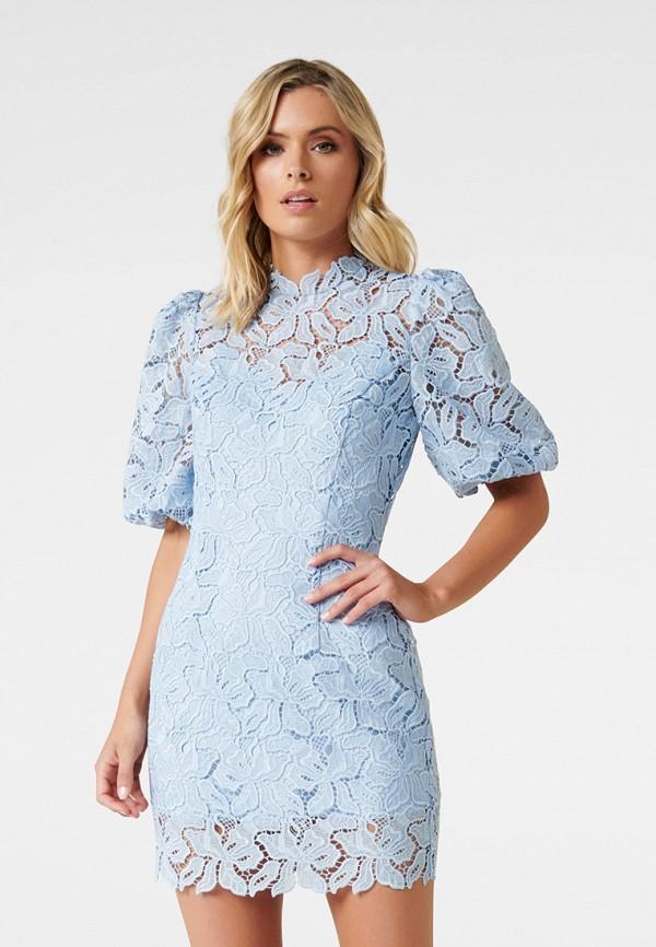 женское вечерние платье forever new, голубое