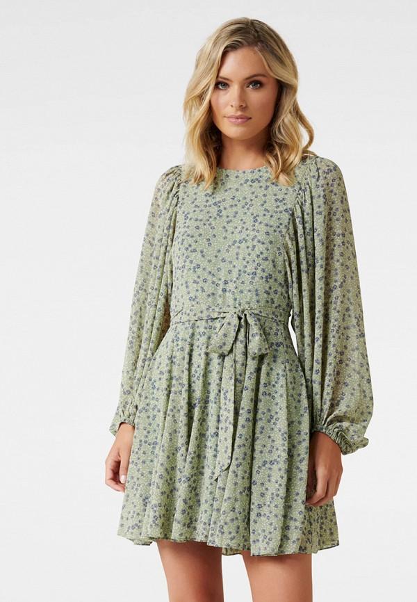 женское повседневные платье forever new, зеленое