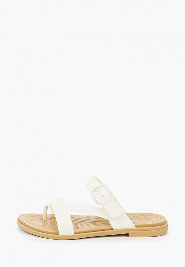 женские сланцы crocs, белые