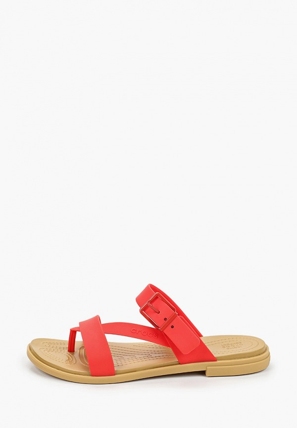 женские сланцы crocs, красные