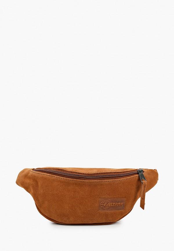 женская сумка eastpak, коричневая